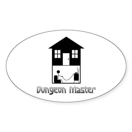 Dungeon Master Oval Sticker