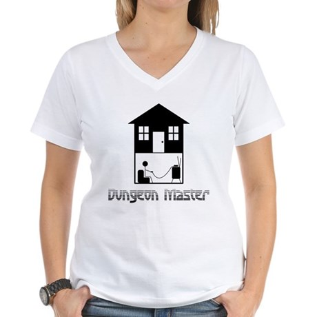 Dungeon Master Womens V-Neck T-Shirt