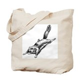 Flying Squirrel Illustration  Tote Bag