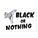 Black Or Nothing 1 (Female) Postcards (Package of 