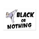 Black Or Nothing 1 (Female) Mini Poster Print