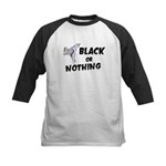 Black Or Nothing 1 (Female) Kids Baseball Jersey