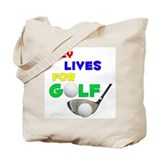 Litzy Lives for Golf - Tote Bag