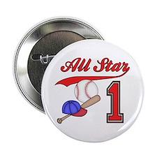 "AllStar Baseball First Birthday 2.25"" Button (100"