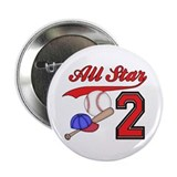 "AllStar Baseball 2nd Birthday 2.25"" Button (100 pa"