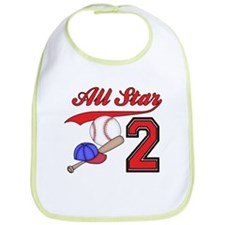 AllStar Baseball 2nd Birthday Bib