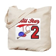 AllStar Baseball 2nd Birthday Tote Bag