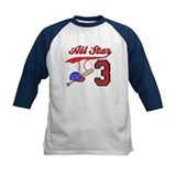 AllStar Baseball 3rd Birthday Tee