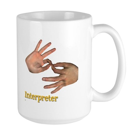 Male Interpreter Large Mug
