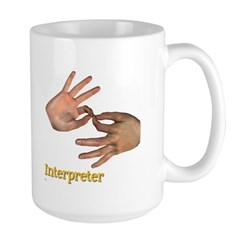 Male Interpreter Large Mug