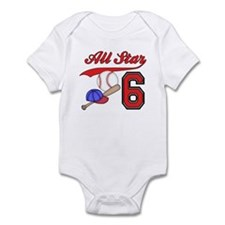 AllStar Baseball 2nd Birthday Infant Bodysuit