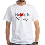 My Heart Is In Norway White T-Shirt