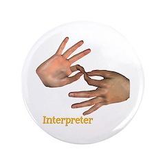 """Male Interpreter 3.5"""" Button"""