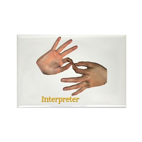 Male Interpreter Rectangle Magnet