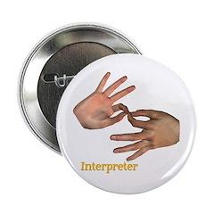 """Male Interpreter 2.25"""" Button"""