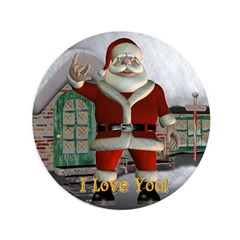 "Santa ""I Love You"" 3.5"" Button"