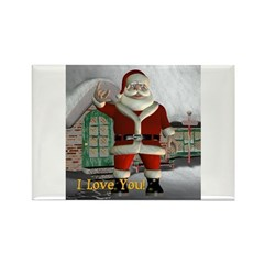 "Santa ""I Love You"" Rectangle Magnet"