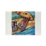 Boston beach buds Rectangle Magnet (10 pack)