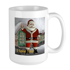 "Santa ""I Love You"" Large Mug"