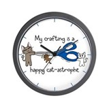 My crafting is...catastrophe Wall Clock