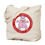 Hippo for Christmas Tote Bag