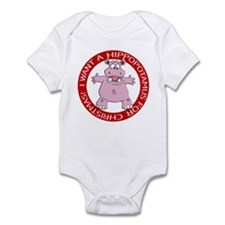 Hippo for Christmas Infant Bodysuit