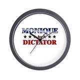 MONIQUE for dictator Wall Clock