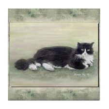 Julio the Cat Tile Coaster