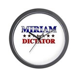 MIRIAM for dictator Wall Clock