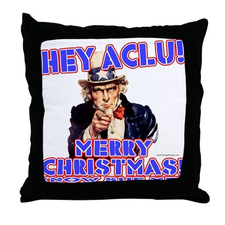 Merry Christmas ACLU Throw Pillow