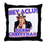 Merry Christmas ACLU Throw Pillow