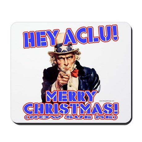 Merry Christmas ACLU Mousepad 