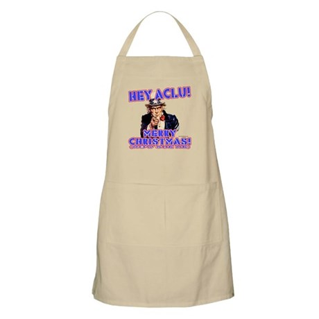 Merry Christmas ACLU BBQ Apron