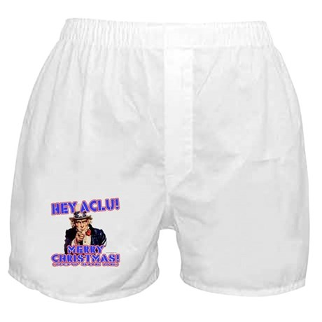 Merry Christmas ACLU Boxer Shorts