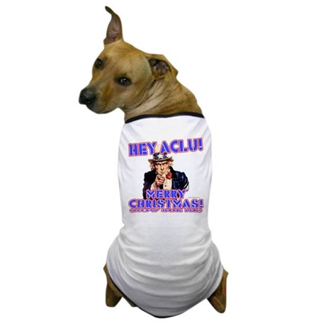 Merry Christmas ACLU Dog T-Shirt