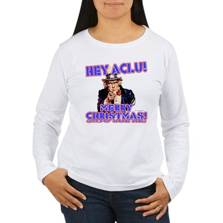 Merry Christmas ACLU Women's Long Sleeve T-Shirt