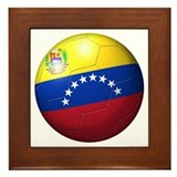 Venezuela Flag Soccer Ball Framed Tile