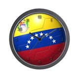 Venezuela Flag Soccer Ball Wall Clock