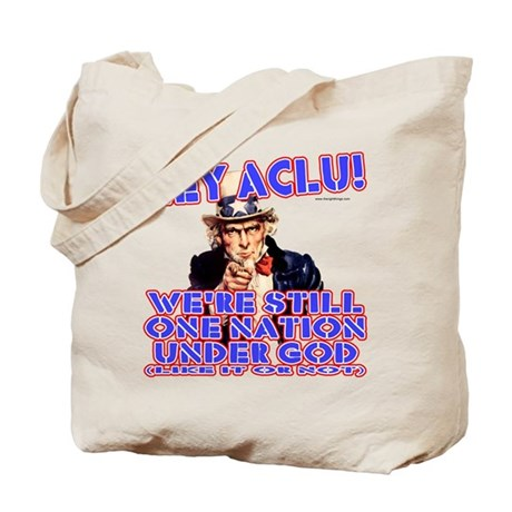 Under God Anti-ACLU Tote Bag