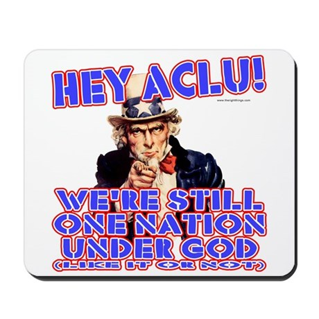 Under God Anti-ACLU Mousepad