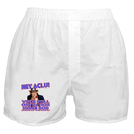 Under God Anti-ACLU Boxer Shorts