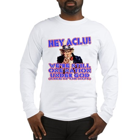 Under God Anti-ACLU Long Sleeve T-Shirt