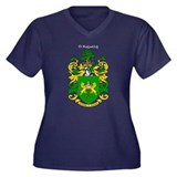 Reilly Coat of Arms Women's Plus Size V-Neck Dark