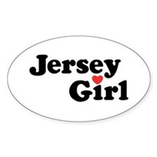 Jersey Girl Oval Decal
