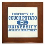 Couch Potato University Framed Tile