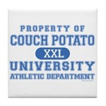 Couch Potato University Tile Coaster