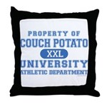 Couch Potato University Throw Pillow