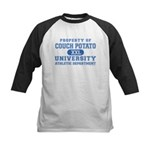 Couch Potato University Kids Baseball Jersey