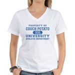Couch Potato University Women's V-Neck T-Shirt
