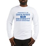 Couch Potato University Long Sleeve T-Shirt